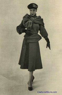 Suit by Lanvin-Castillo, 1951.  #vintage #couture