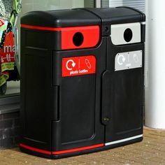 Gemini™  Recycling Bin is a multi-purpose, twin-liner container designed for outdoor recycling collection. #GlasdonUK #External #Recycling #Bins #Recycle #RecyclingBins