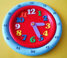Learning Ideas - Grades K-8: 5 Minute Interval Paper Plate Clock