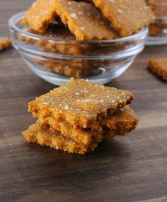 Gluten Free Cheez-Its - An all natural take on the cheesy snack favorite! Also dairy free and vegan friendly!