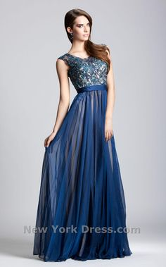 Dress Inspired by Navy La Femme Evening Gown