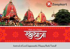 Wish You all Happy Rathyatra from Zeepkart.!!