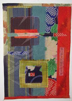 Jill Dixson's 'Japanese Fabrications' uses a selection of vintage kimono remnants.