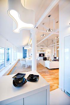All-White Renovated Apartment by Grosu Art Studio, Chisinau, Moldova