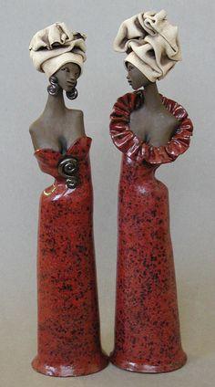 černošky v červeném:coloreado en rojo
