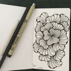 Zentangle a day Day Ginili Join the challenge with us… Art Challenge, Zentangle Patterns, Zentangles, Tangle Art, Zen Art, Pattern Art, Inktober, Tangled, Challenges