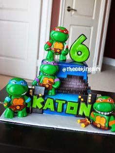 como fazer bolo de tartaruga ninja