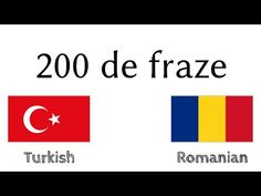 200 de fraze - Turcă - Română - YouTube Make It Yourself, Education, Youtube, Educational Illustrations, Learning, Youtube Movies, Studying