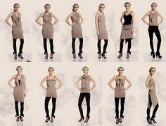 Creative cloth convertible  Dress (multivestido) : VCTRY's BLOG