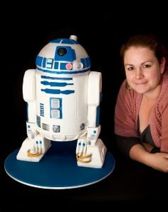 Hungry Planet: R2D2 Cake Step By Step Tutorial with Templates and Sound Module