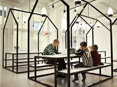 "Sweden's newest school, Telefonplan School, system has no classroom. ~ Architect Rosan Bosch designed the school to encourage both independent and collaborative work such as group projects and PBL. Even the furniture is meant to get students learning. Bosch says each piece is meant to ""aid students in engaging"" while working.    The un-schoolness doesn't stop with the furniture and layout though. The school has no letter grades, students learn in groups based on their level and not age"