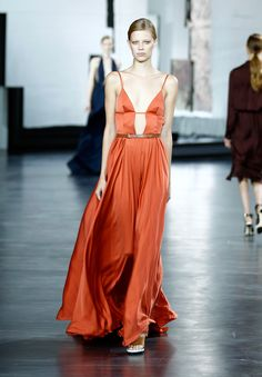 Is anyone else getting 2011 BAFTAs vibes? That's one moment we'd love to reenact with this flowy keyhole gown.   - MarieClaire.com