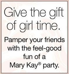 We All Could Use Some Pampering.... Why not Pamper your girlfriends with a MK party.