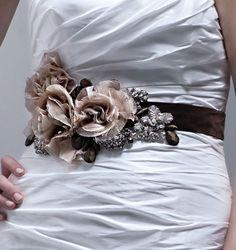 Enzoani Fern Belt:  wedding belt brown ivory jewelry wedding dress Fern Belt787    I WANT IT!