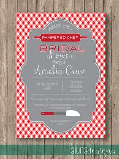 Unique pampered chef bridal shower by slmdesignsolutions on etsy unique pampered chef bridal shower by slmdesignsolutions on etsy 2000 slm design solutions custom invitations pinterest bridal showers pampered filmwisefo