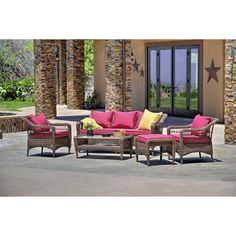 The-Hom Romana 5 Piece Seating Group with Cushions