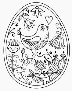 Bird Coloring Page 18 Make your world more colorful with free printable coloring pages from italks. Our free coloring pages for adults and kids. Easter Egg Coloring Pages, Bird Coloring Pages, Free Coloring, Adult Coloring Pages, Coloring Sheets, Coloring Books, Easter Coloring Pages Printable, Mandala Coloring, Paper Embroidery