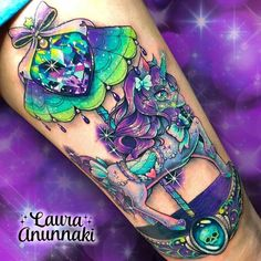 Magical unicorn carousel tattoo by Source: unicorngalaxycom Girly Tattoos, Badass Tattoos, Skull Tattoos, Unique Tattoos, Beautiful Tattoos, Body Art Tattoos, Cool Tattoos, Tatoos, Awesome Tattoos