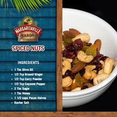 Get your sustenance with this great Spiced Nuts recipe! Goes great with any of your frozen concoctions! #FinsUp