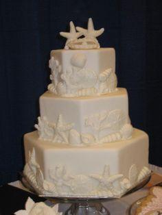 cute ocean wedding cake