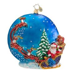 Christopher Radko INTO THE STARRY NIGHT Santa ornament NEW for sale FREE USA SHIPPING