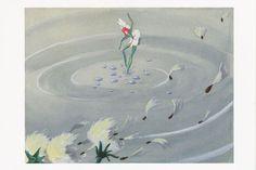 ؍Postcard Disney Fantasia: The Nutcracker Suite 1940 Flower Fairy on Water 2014