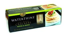 Wafer Crackers Pepper and Chives 100g. Waterwheel