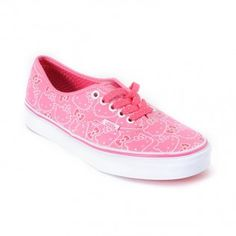 Hello Kitty Vans Hawaiian Pink Women's Authentic Shoes