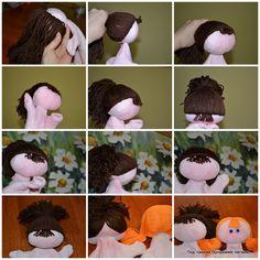 Doll hair tutorial by Irina Maltseva