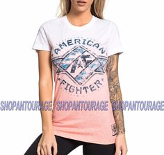 American Fighter Bradford Fw5216 Women`S White T-Shirt By Affliction