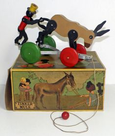 RARE Boxed Tinker Toys - TINKER MULE Pull Toy | eBay Tinker Toys, Pull Toy, Christmas Ornaments, Holiday Decor, Ebay, Things To Sell, Christmas Jewelry, Christmas Decorations, Christmas Wedding Decorations