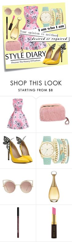 """""""Sweety Rosedale Vintage Dress"""" by ichaaica ❤ liked on Polyvore featuring Post-It, A.X.N.Y., MANGO, Christian Dior, NYX, Kevyn Aucoin and vintage"""
