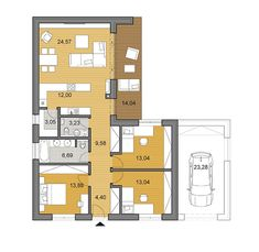 House plans - choose your house by floor plan L Shaped Tiny House, L Shaped House Plans, Small House Floor Plans, My House Plans, Bungalow House Plans, House Plans Australia, Apartment Floor Plans, Nice Houses, Small Houses