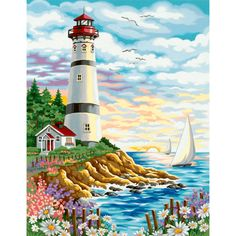 Dimensions® Paint by Number Kit, Lighthouse at Sunrise
