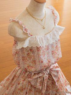 LIZ LISA Summer Victorian Rose Ribbon Floral Striped Dress Hime Gyaru Lolita #LIZLISA #MyMelodyPeplum #Shibuya109Lolitafashion