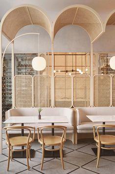 Salon Interior Design, Commercial Interior Design, Commercial Interiors, Room Interior, Design Bar Restaurant, Deco Restaurant, Restaurant Interiors, Architecture Restaurant, Interior Architecture