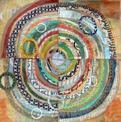 Orange Bingo   an original mixed media collage by janeville, $65.00