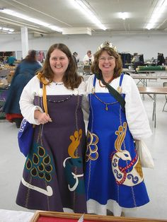 Fabulous Norse Gowns by Archeress Arts, via Flickr    WOW the Applique is awesome!