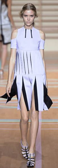 Sport Luxe - Versus.  Kill two trends with one stone. Fondant Pastels with a sport luxe clean - futurism feel.