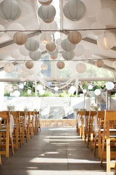 Tent wedding.