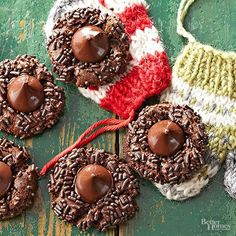 Four out of five ingredients in these decadent, holiday-party-worthy cookies feature chocolate. Enough said. Why it's easy...  You can freeze these intensely-chocolaty cookies up to 3 months before serving.