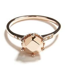 Anna Sheffield - Hazeline Solitaire Ring, Rose Gold - this ring is SO COOL.