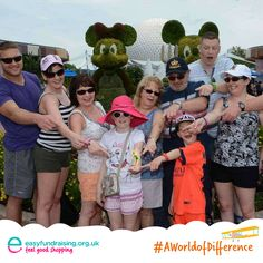 """#AWorldOfDifference this photo is of our family in the most fav place in the world Epcot WDW Florida"" #Travel #Holiday"