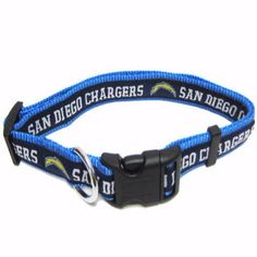 """-""""San Diego Chargers NFL Dog Collars"""" - BD Luxe Dogs & Supplies"""