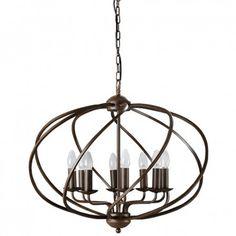 Zola 8 Light Chandelier Dark Bronze - Chandelier - Lighting & Fans
