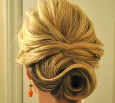 This updo is perfect for gals with short hair.