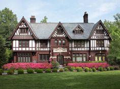 239 S Mountain Ave, Montclair, NJ 07042 - 2 acres - Elizabethan Tudor c.1916 - heated pool - hot tub - tennis court - koi pond w/waterfall - bbq w/wet bar & fridge - $2.1 million USD