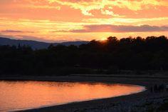 Sunset at Benderloch bay
