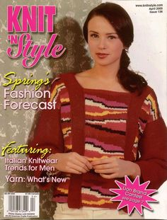 Knit n Style April 2005 Spring Fashions Poncho Felting Machine Knitting Patterns #KnitnStyle #KnittingPatterns