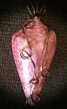 Wire wrap shell pendant by Charmed Enchantments Mermaid Jewelry